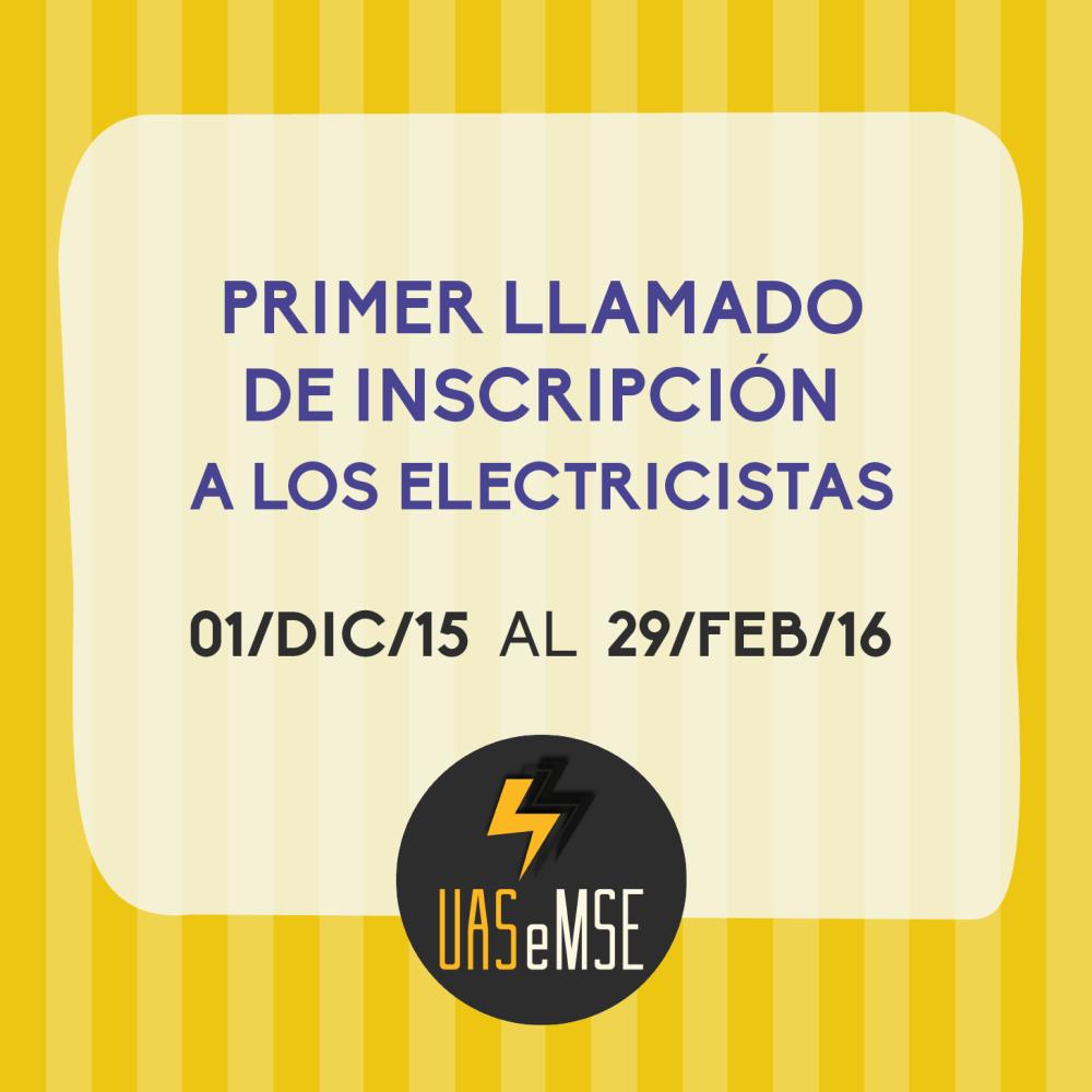 1 llamado electricistas